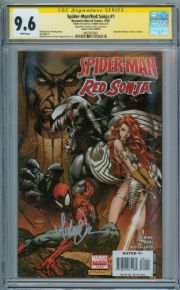 Spider-man Red Sonja #1 CGC 9.6 Signature Series Signed Michael Turner Venom Marvel comic book